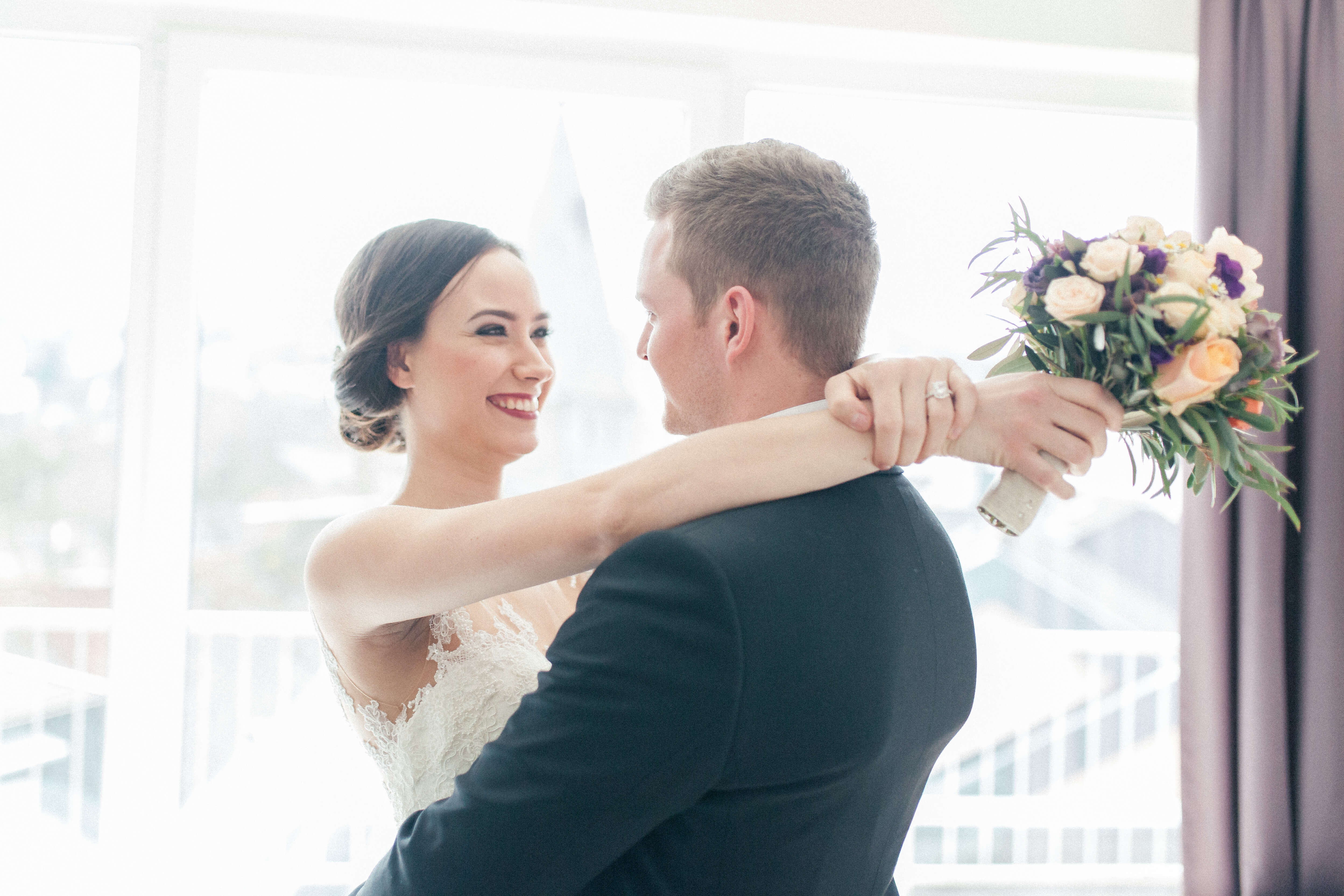 Braut und Bräutigam Styling